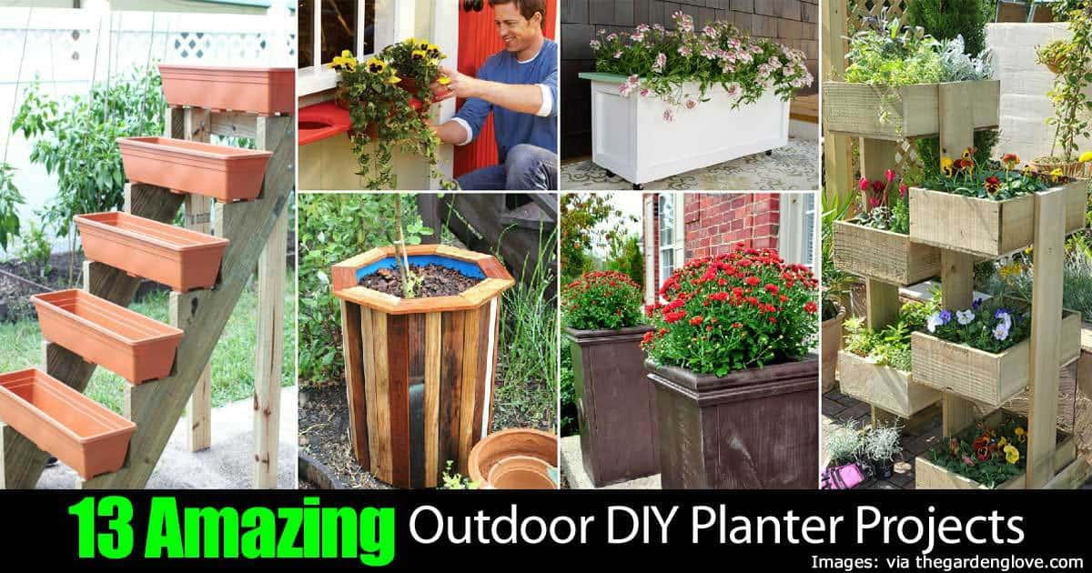 13 Outdoor Diy Planter Projects 22820151012
