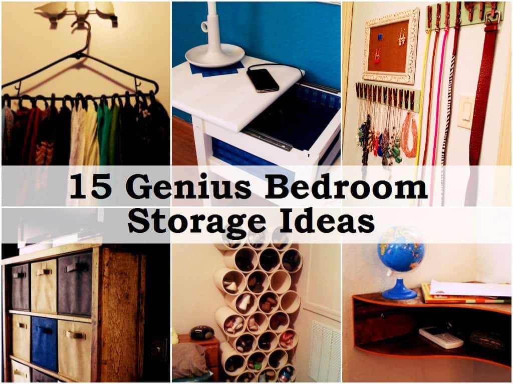 15 smart bedroom storage ideas for Bedroom storage ideas