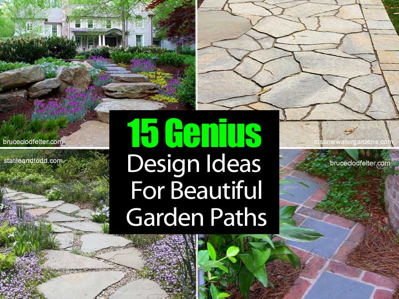 15 genius design ideas for beautiful garden paths for Garden path designs