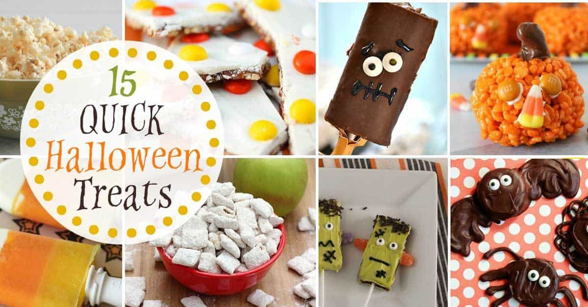 15 quick halloween treats
