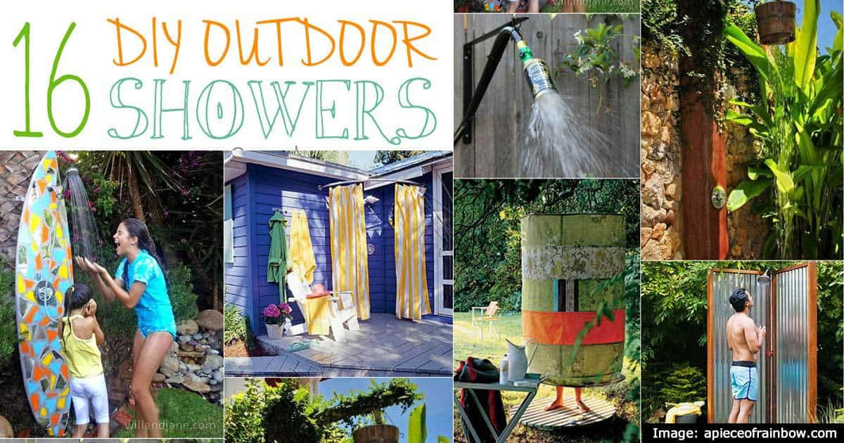16 DIY Outdoor Shower Ideas For Cooling Off When The Heat Is On