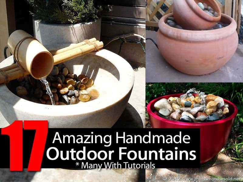 homemade garden fountains
