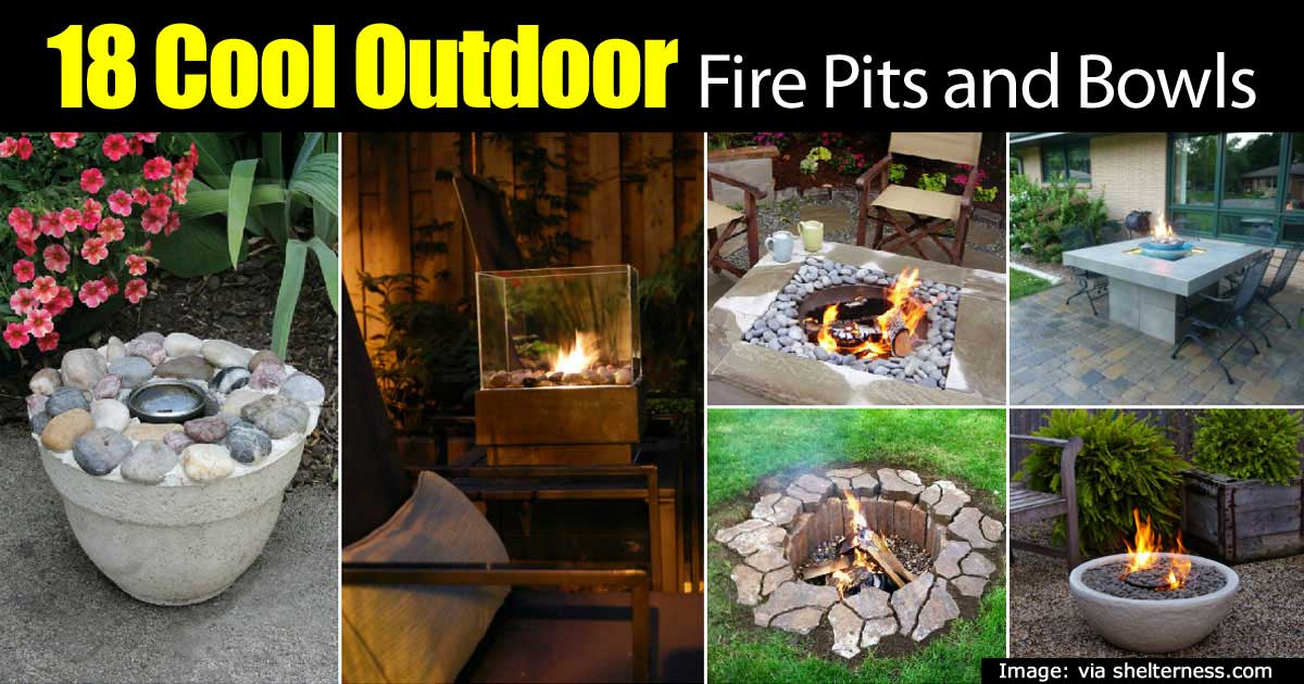 18 Cool Backyard Fire Pits And Bowls For The Outdoors