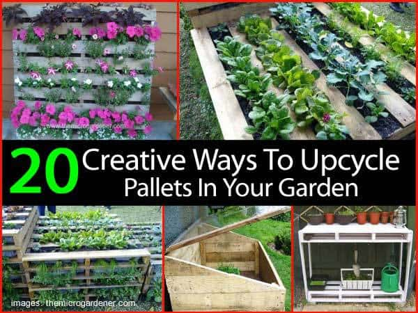 20 creative ways to upcycle pallets in your garden - Reusing pallets in the garden ...