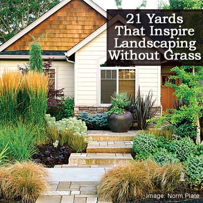 21 Yards Inspiring Landscaping Without Grass