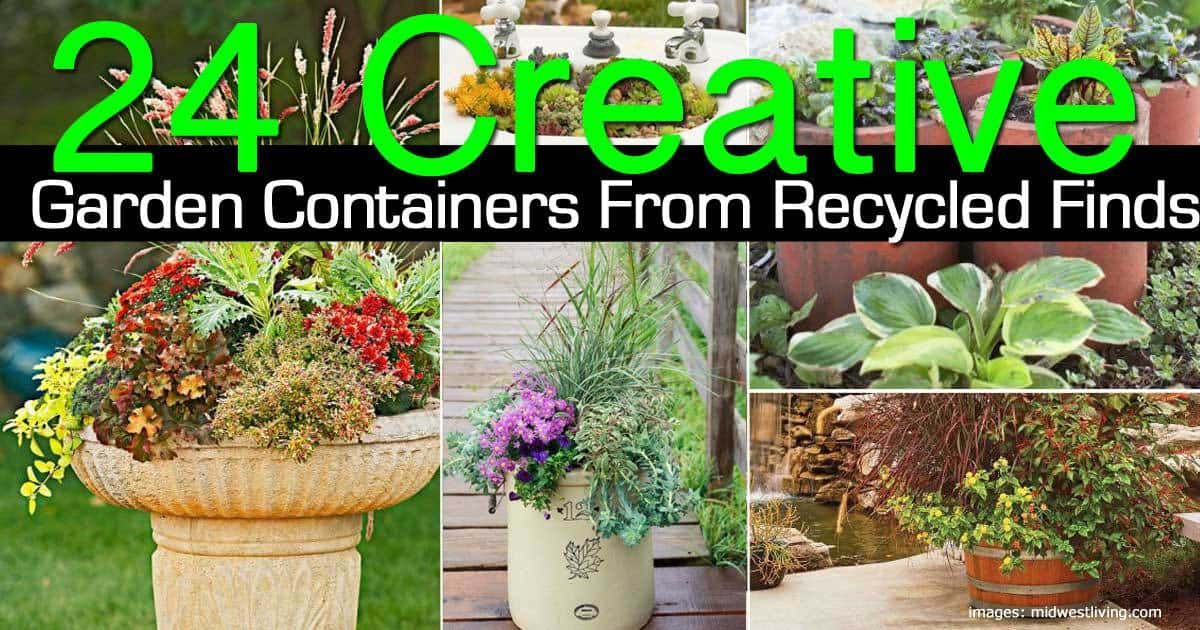 24 Creative Garden Containers From Recycled Finds