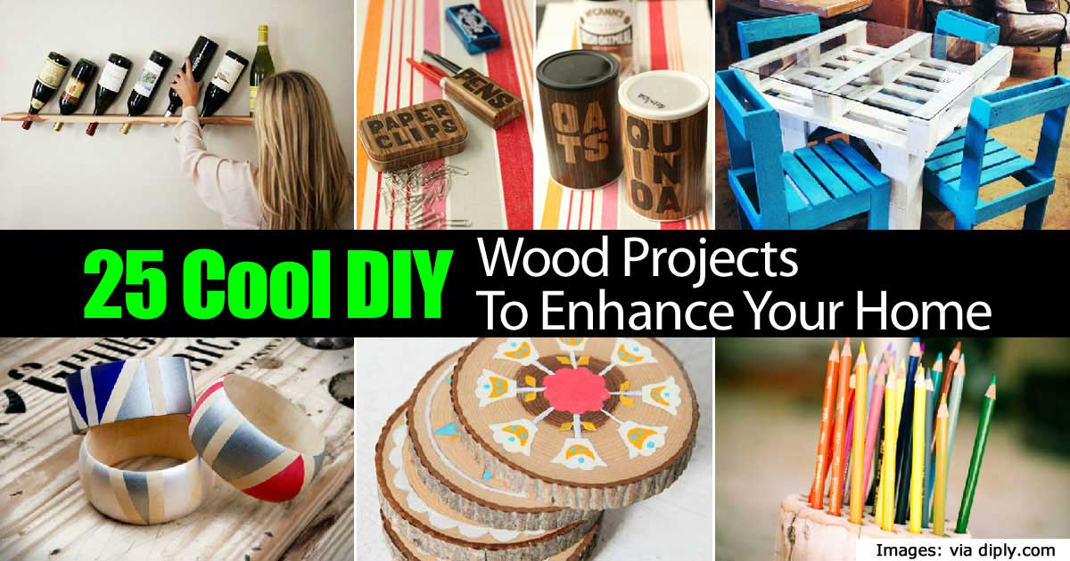 25 cool diy wood projects to enhance your home