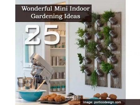 Indoor Gardening Ideas mini indoor gardening 8 25 Wonderful Mini Indoor Gardening Ideas