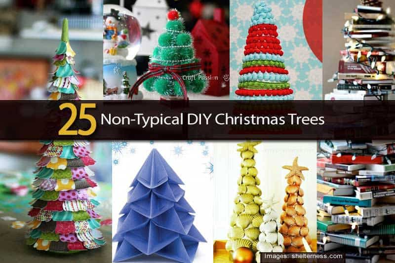 20 diy non typical christmas trees for Non christmas tree