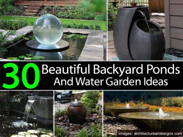 30 beautiful backyard ponds and water garden ideas for Simply ponds and gardens