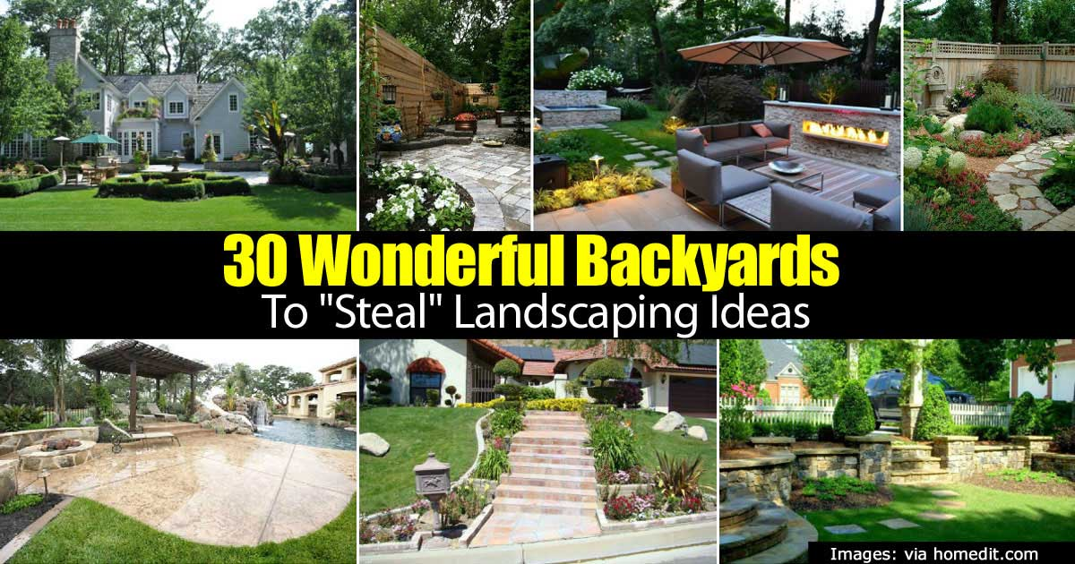 30 Wonderful Backyard Landscaping Ideas Pictures