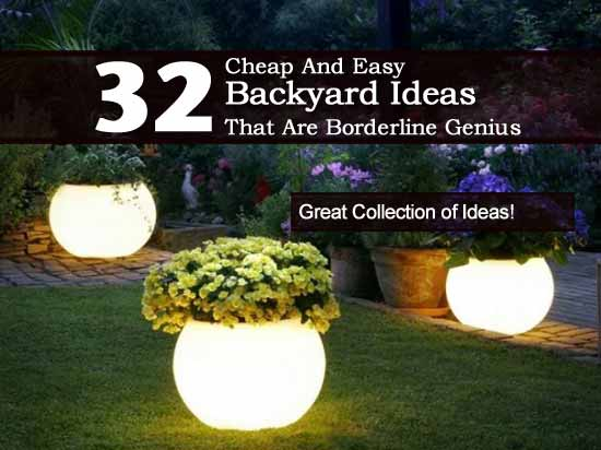32 cheap and easy backyard ideas that borderline on genius for Cheap patio ideas for small yard