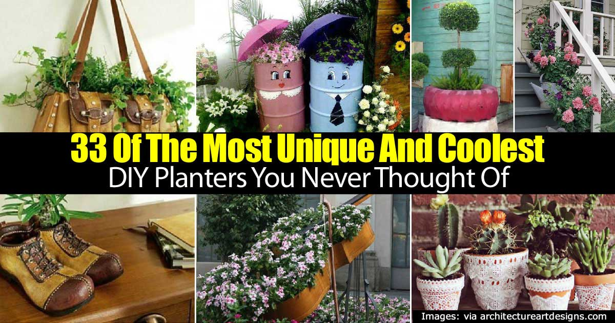 33 Of The Most Coolest and Unique DIY Planters You Never Thought Of