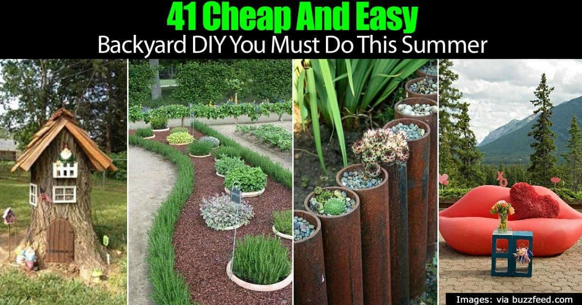41 Cheap And Easy Backyard DIY Projects You Must Do This ...