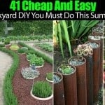 41 Cheap And Easy Backyard DIY Projects You Must Do This Summer