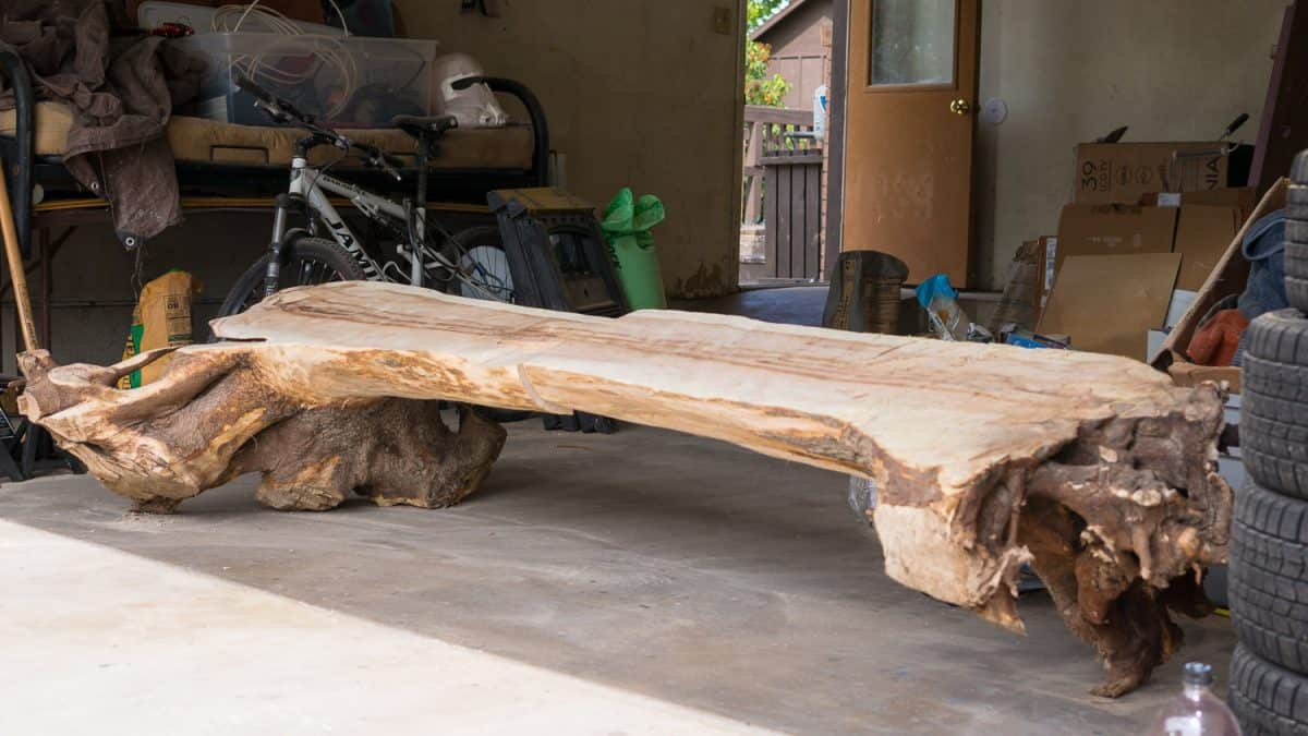 He Turned An Old Tree Stump Into A Beautiful Bench