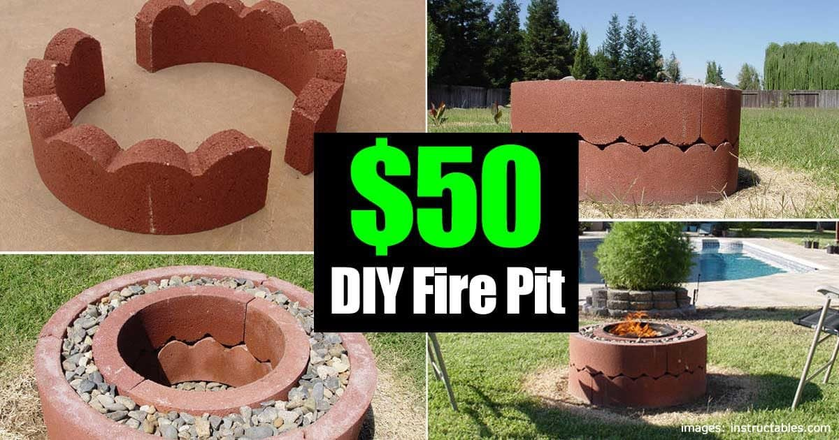 50 dollar fire pit diy and movable for Easy diy fire pit with grill
