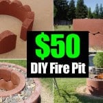 You Can Make A $50 Dollar Fire Pit… DIY And Movable!