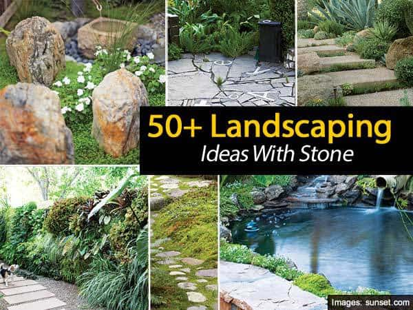 50 landscaping ideas with stone for 50s garden design