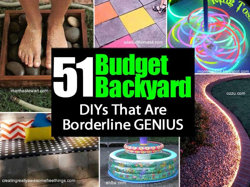Beau 51 Budget Backyard DIY Projects That Are Borderline Genius