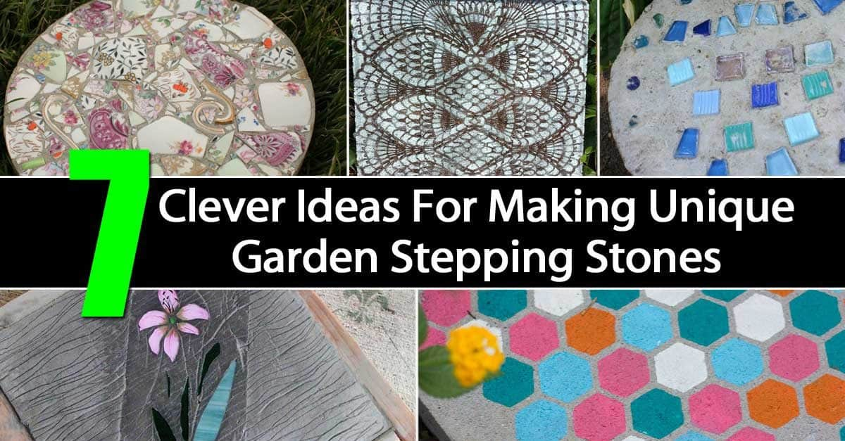 10 Landscaping Ideas For Using Stepping Stones In Your Garden: Personalized Garden Stepping Stones: 7 Clever Ways For