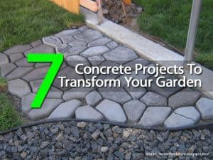 7 concrete projects for your garden