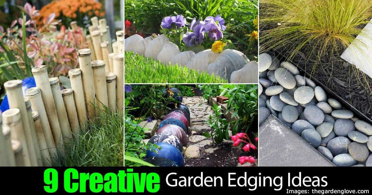 9 Creative Garden Edging Ideas