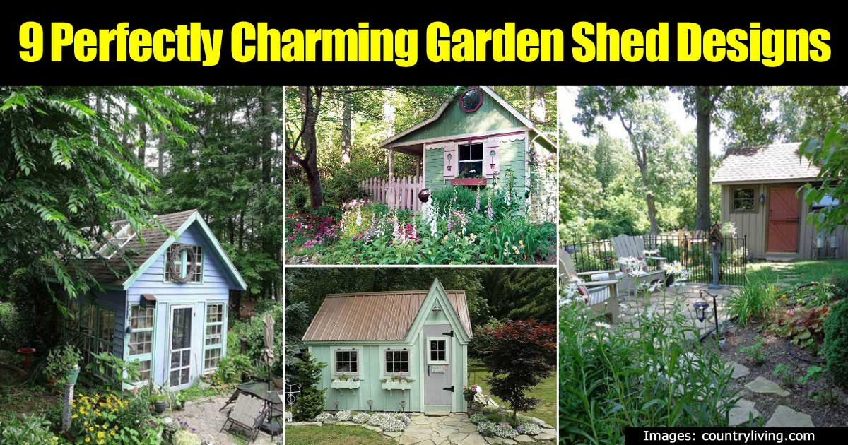 9 Charming And Fun Garden Shed Designs -