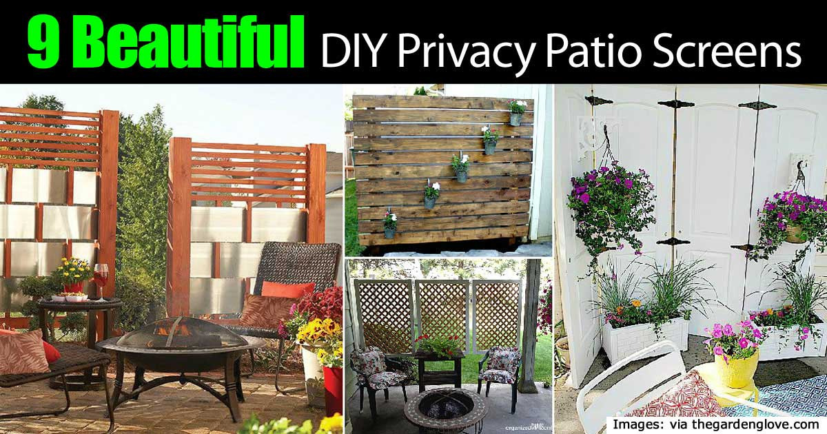 Elegant 9 Beautiful DIY Patio Privacy Screens