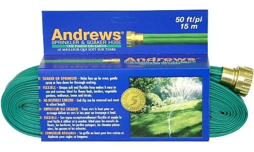 Andrews' 50-Foot 2 Tube Sprinkler Hose 10-12348