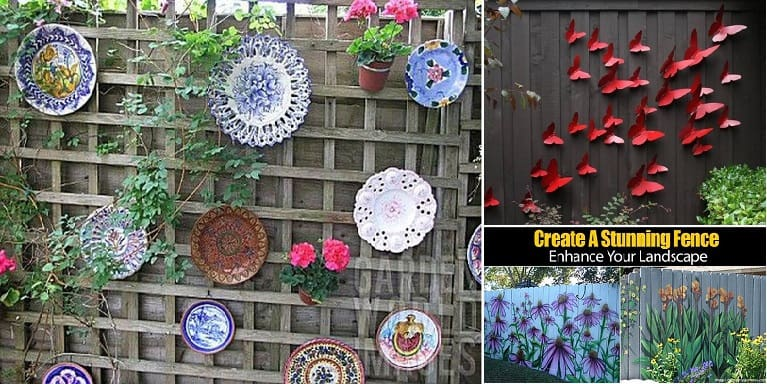 Backyard Fence Decorating Ideas painted fence ideas Decorate Your Fence How To Ideas For Spicing Up The Backyard