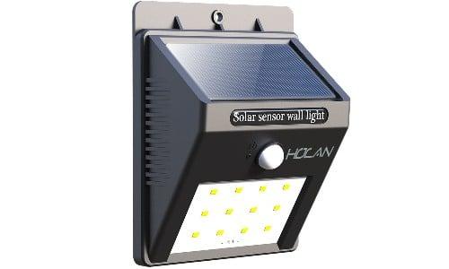 Holan 12 LED Motion Sensor Solar Waterproof Wall Light