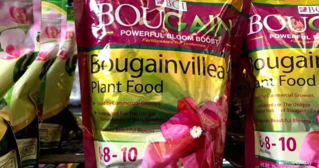 bag of Bougainvillea fertilizer