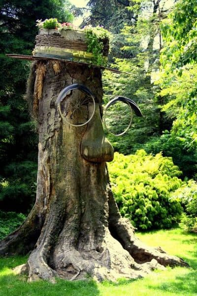 How To Decorate Your Garden With Old Tree Stumps