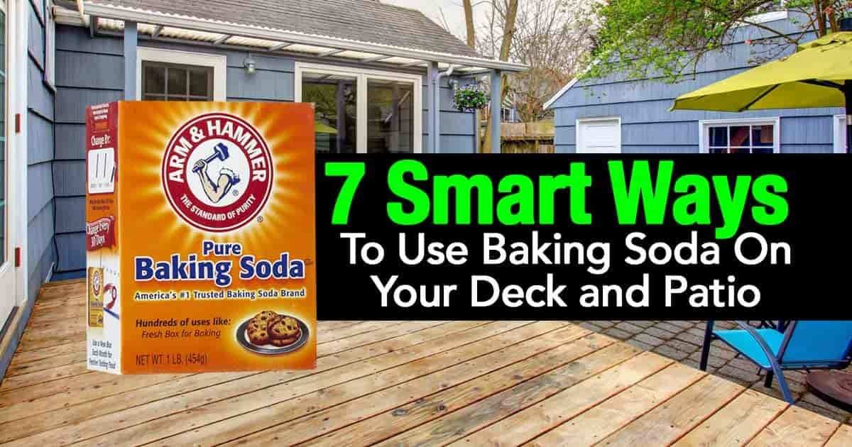 uses for baking soda on the patio
