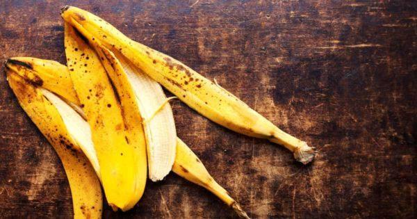 Banana peels used as fertilizer