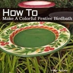 How To Make A Colorful Festive Birdbath