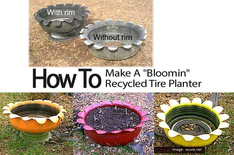 How to make a bloomin recycled tire planter for How to make a tire garden