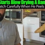 He Starts Blow Drying A Banana… Then Carefully Peels It Open