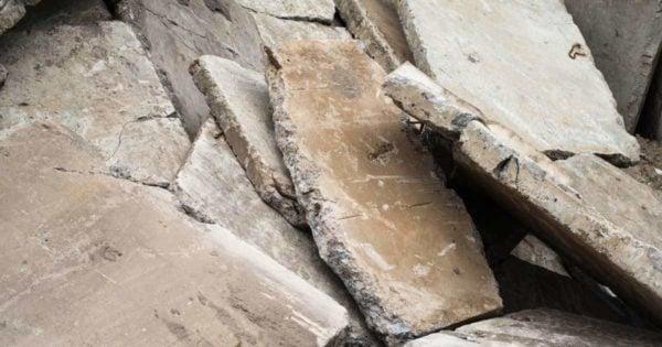 broken concrete make for interesting border material