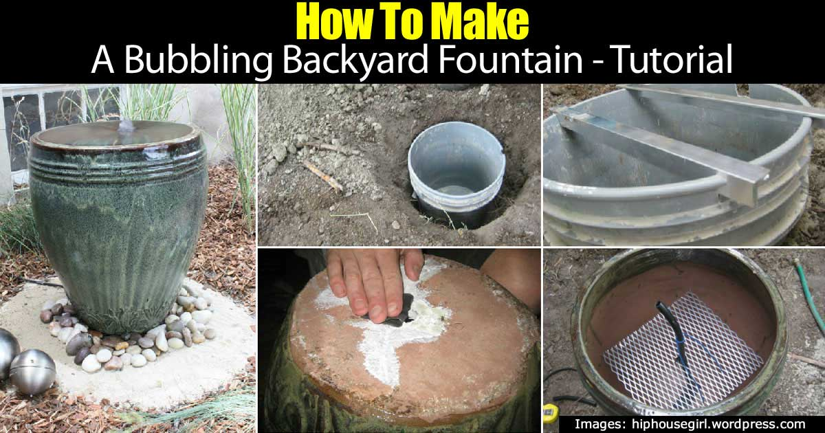 How To Make A Bubbling Backyard Fountain Tutorial