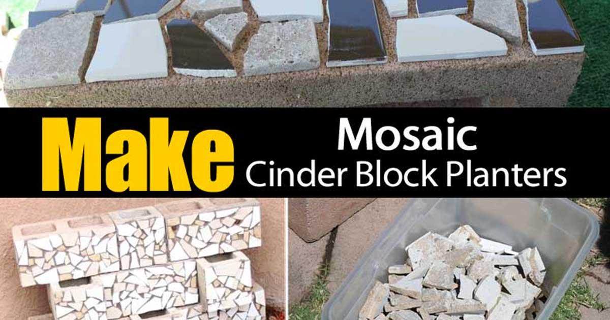 make cinder block planters