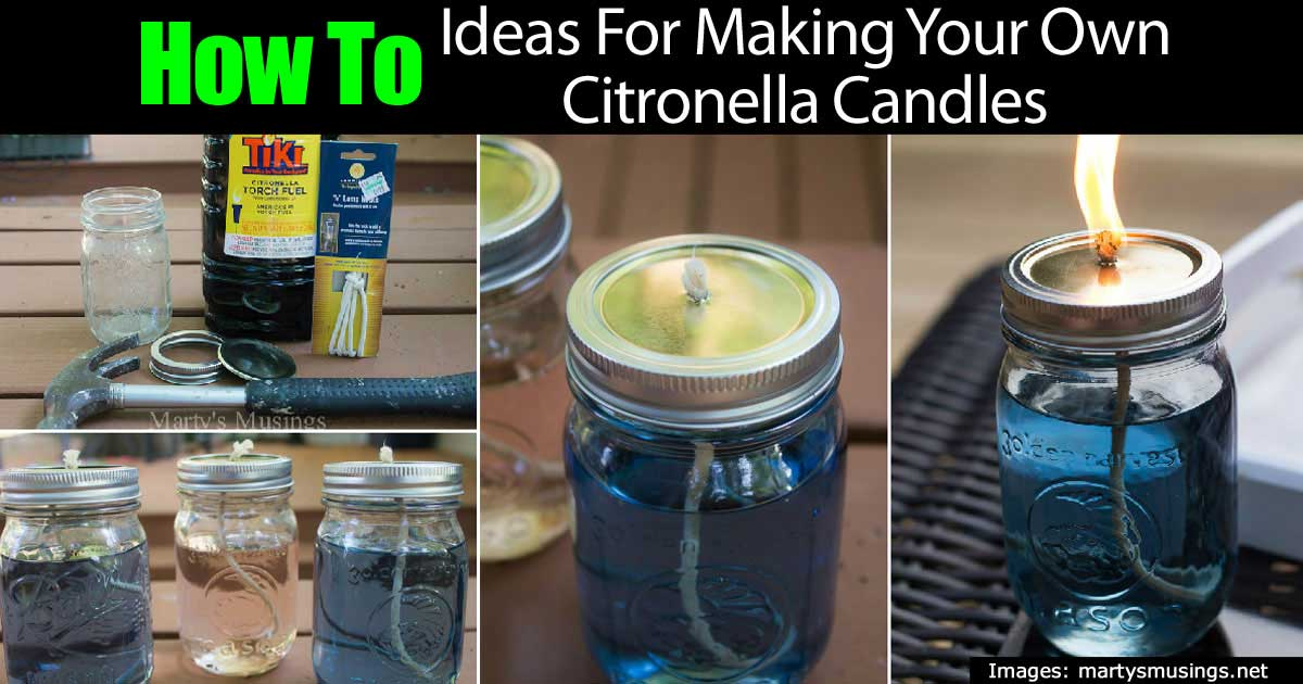 how to make your own mosquitoes repelling citronella candles