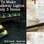 How To Make Classy Solar Walkway Lights With Only 3 Items