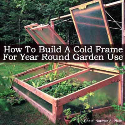 How To Build A Cold Frame For Year Round Garden Use -