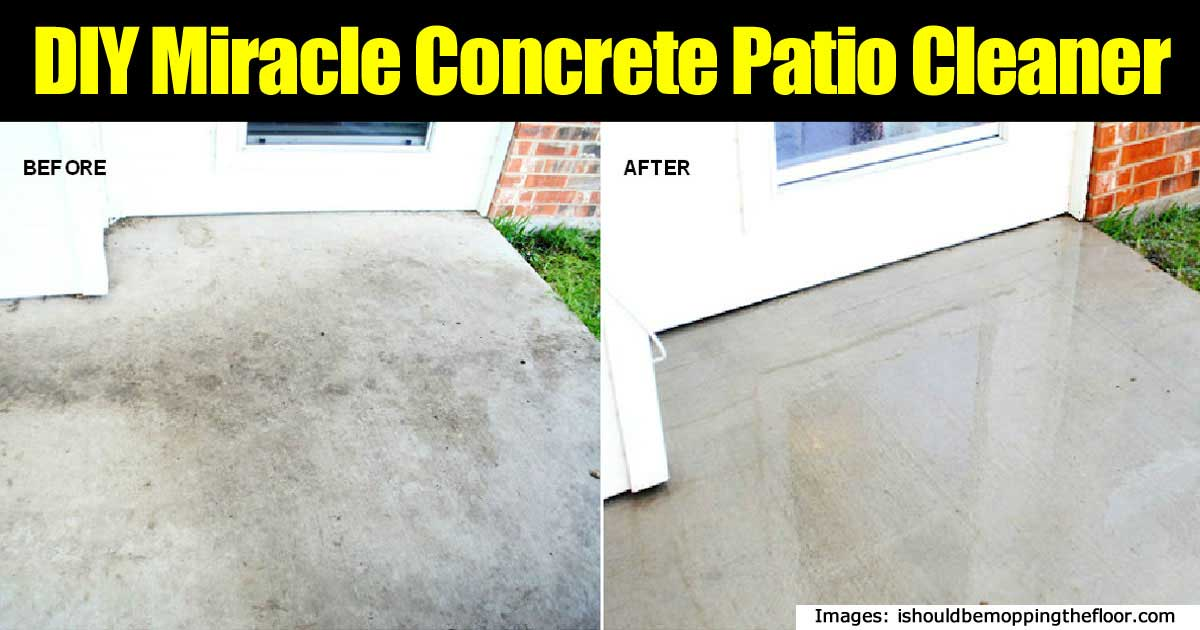 Make your own miracle concrete patio cleaner easy peasy for Best degreaser for concrete