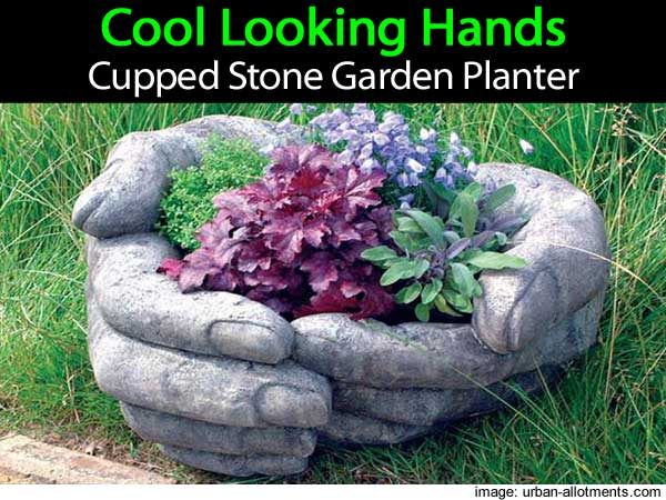 Stone Garden Troughs Cool looking hands cupped stone garden planter cupped hands planter 043014 workwithnaturefo