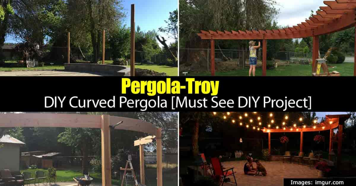 A great DIY Pergola with an interesting design