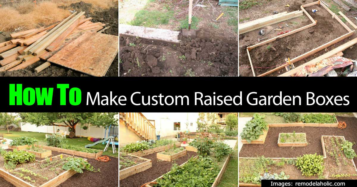 How To Make Custom Raised Garden Boxes