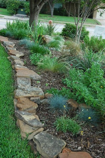 37 garden border ideas to dress up your landscape edging stacked flat edging stones workwithnaturefo
